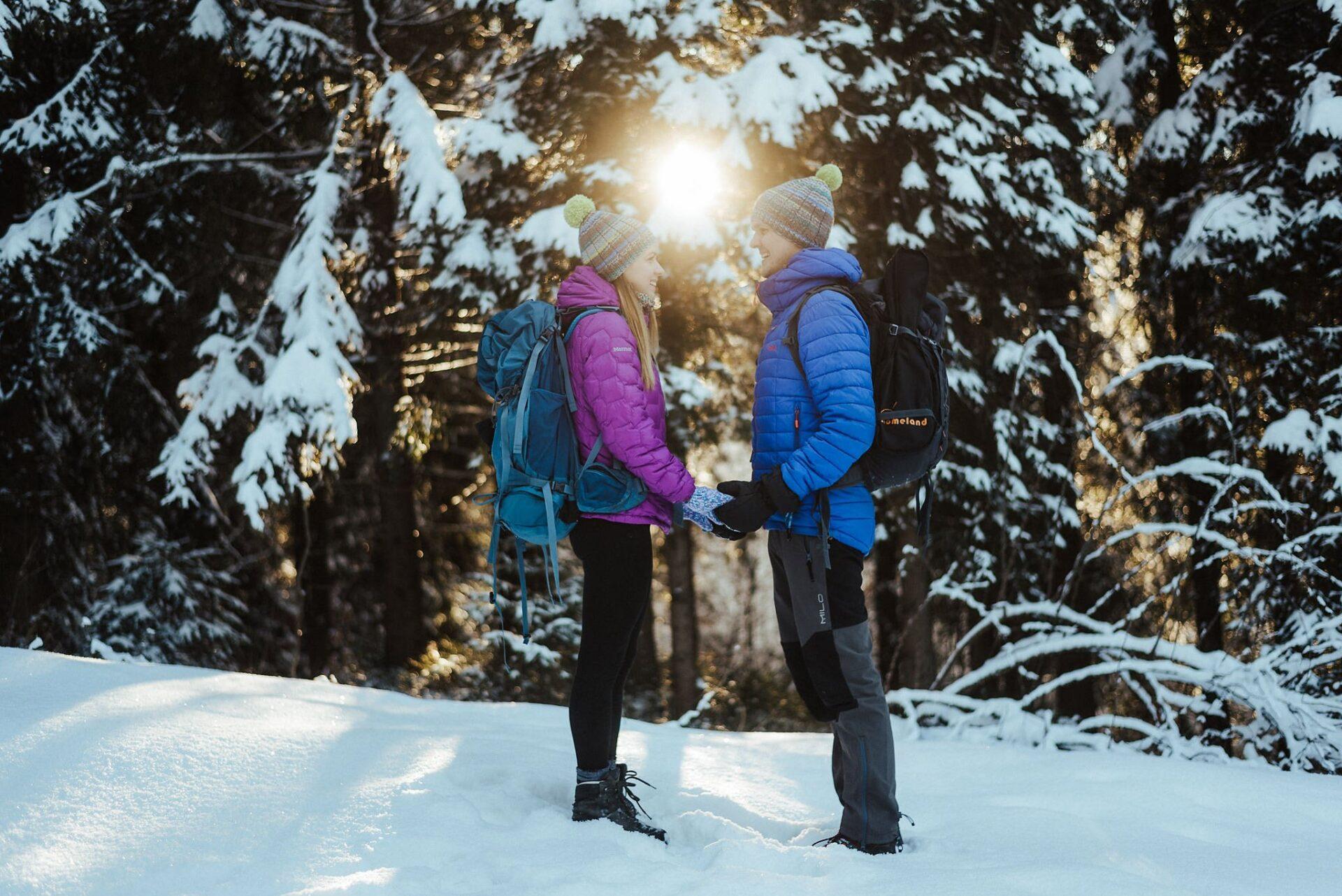 Zimowa sesja narzeczeńska w górach 1