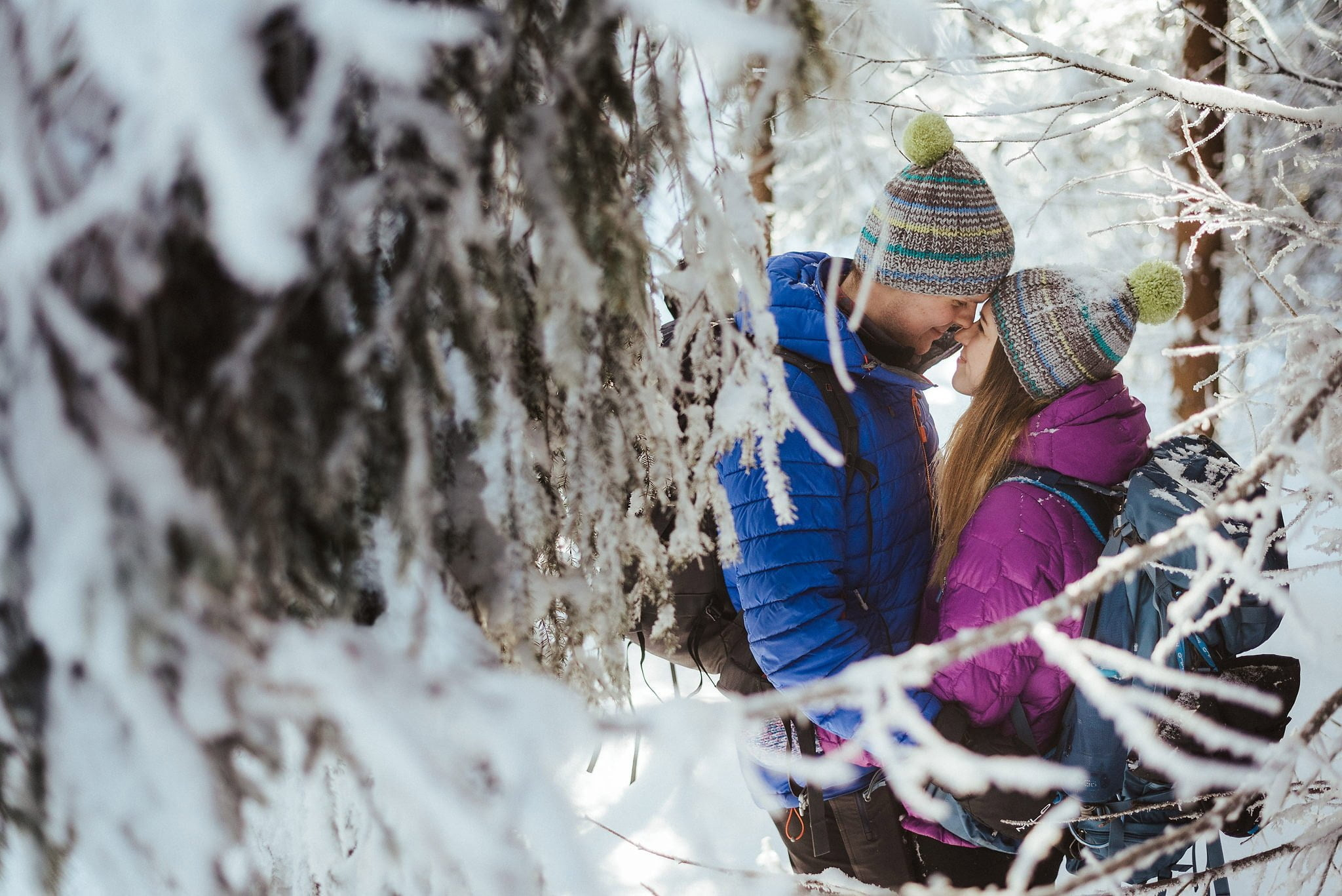 Zimowa sesja narzeczeńska w górach 4