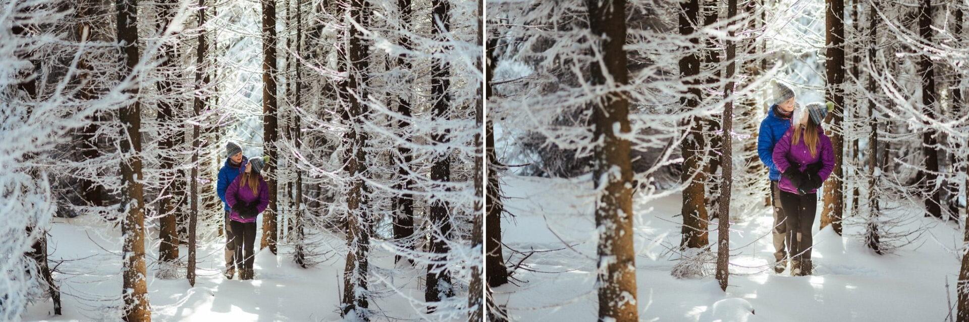 Zimowa sesja narzeczeńska w górach 5