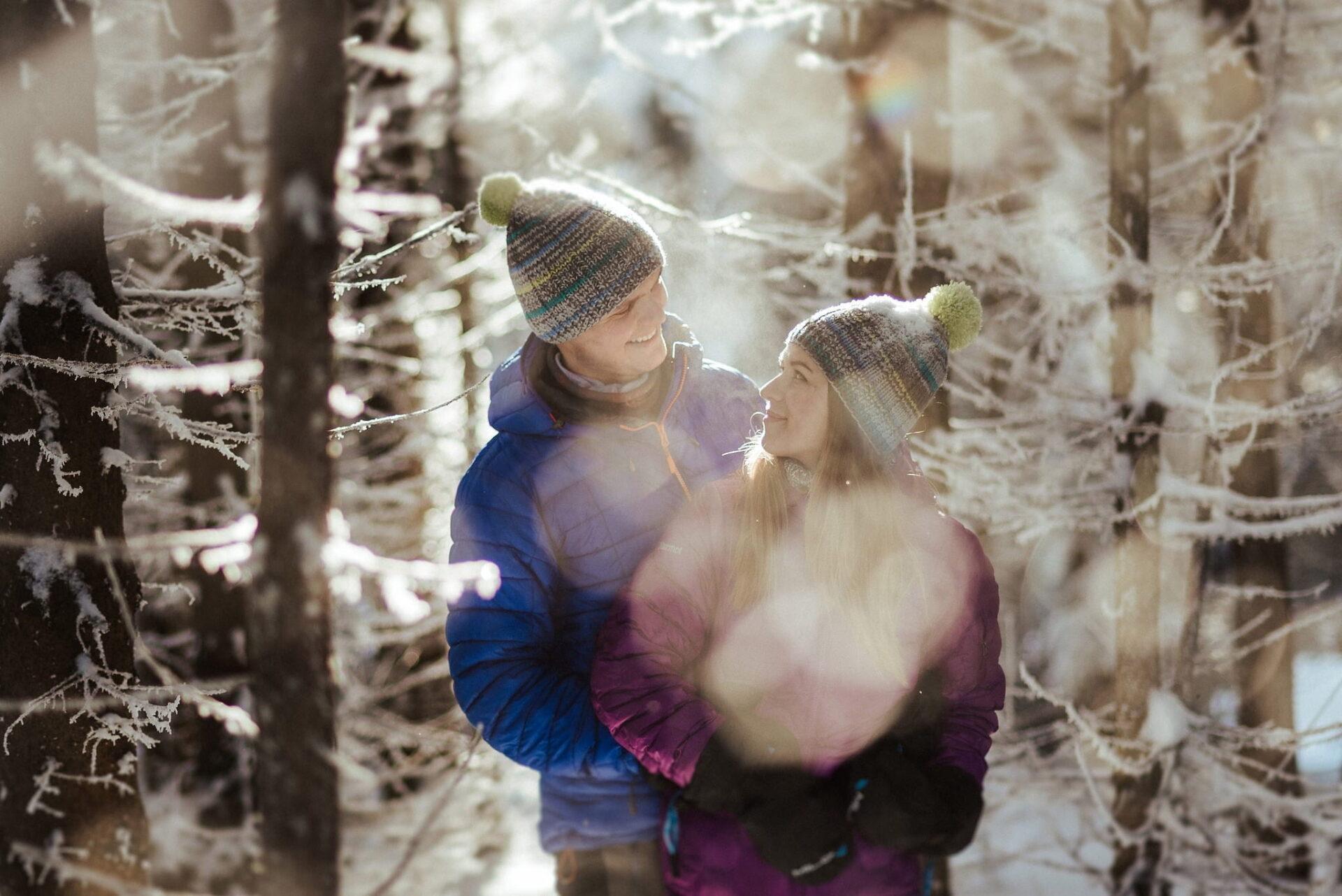Zimowa sesja narzeczeńska w górach 6