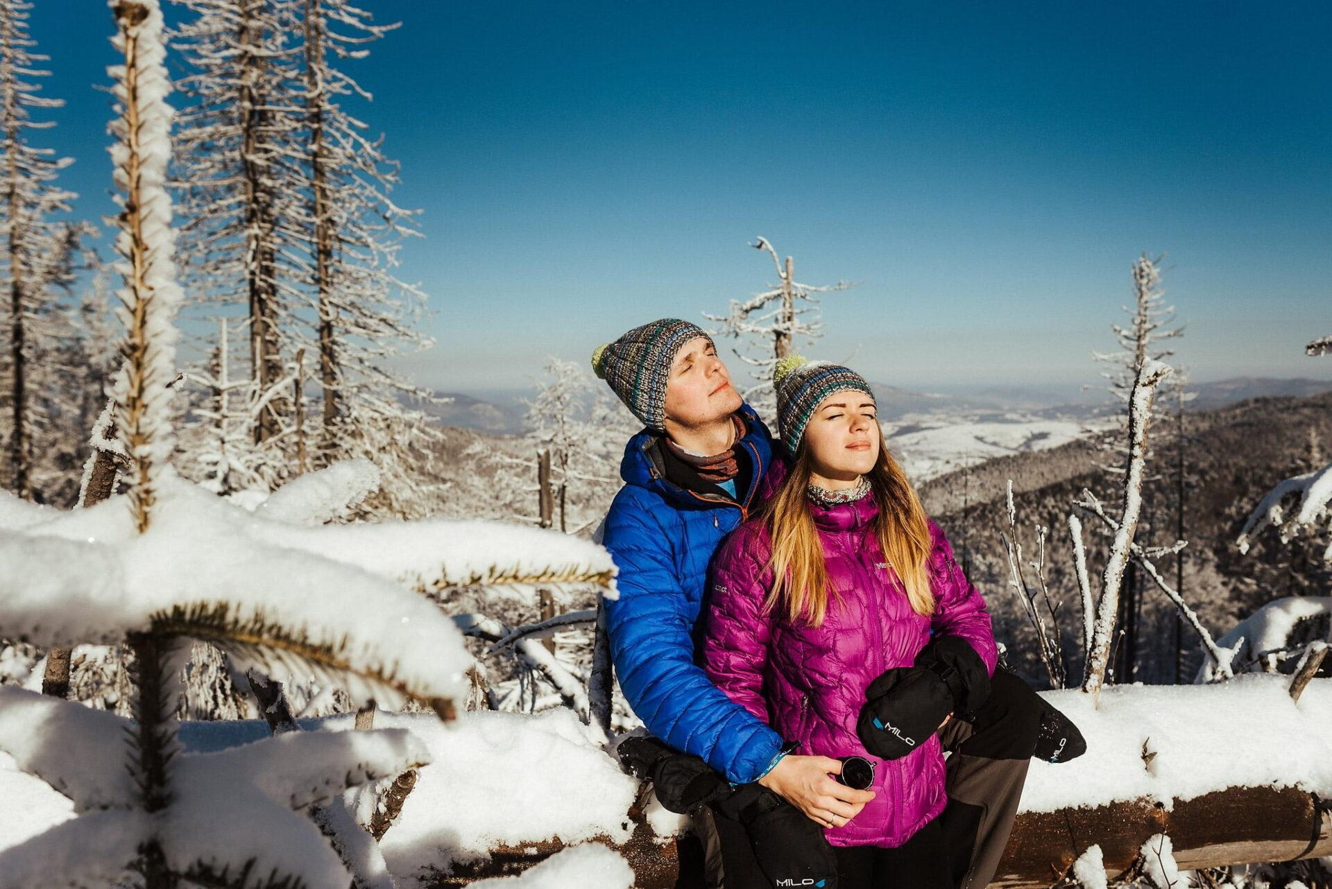 Zimowa sesja narzeczeńska w górach 8