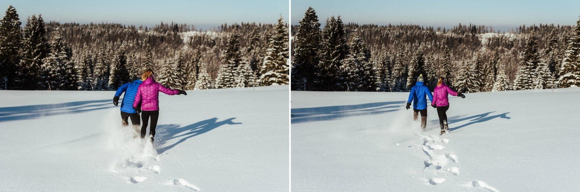 Zimowa sesja narzeczeńska w górach 27